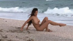 Sofi nude on the beach - duration 02:59