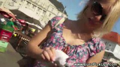 Gorgeous euro amateur getting fingered by a horny guy - duration 10:03