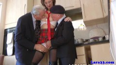 Outstanding British mature fucked by two old guys - duration 09:59