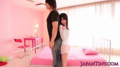 Asian teen Aika has a new friend to play with - duration 07:59