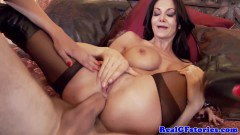 Two stunning brunettes in tit job and anal - duration 07:59