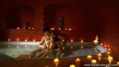 Horny indian couple fucked in the tub and on the bed - duration 10:59