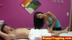 Busty Asian Masseuse Tugging Her Client - duration 07:59