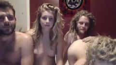 Two amateur couples fucking on cam - duration 1:04:58