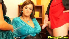 Two piss loving babes soaked - duration 09:59