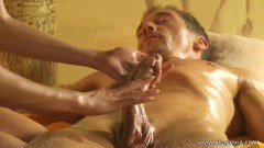 Brunette Performing Body And Cock Massage For Energy Replenish - duration 12:02