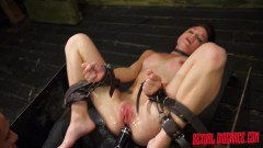 Bound Kaisey Dean gets toyed - duration 08:00
