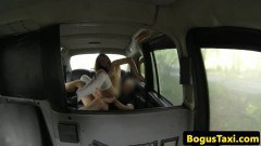 Horny brit redhead riding dick in her boys car - duration 07:59