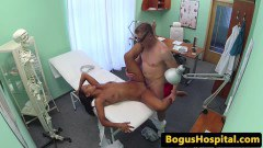 Ebony patient has lesbian sex with the nurse before being fucked by the doc - duration 09:59