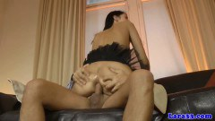 Babe in lingerie ass fucked during threesome - duration 09:59