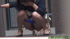 Nasty Asian Taking A Piss In Public - duration 08:04