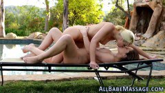 Intense massage leads to passionate outdoor lesbian sex - duration 05:29