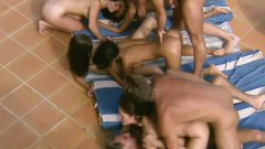 Angelica Bella and her friends fucked and DP' ed during the final gang bang - duration 05:14