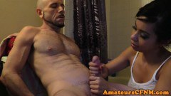Cfnm girl friend tugs boyfriend after shower - duration 06:14