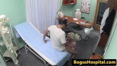 Light-haired patient tugging and sucking doctors snake  - duration 06:59