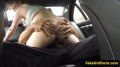 Pulled Britt pink hair whore pussyfucks officer on the backseat - duration 06:59