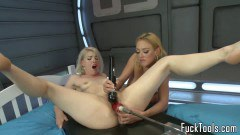 Dee Williams and Ella Nova two blonde lesbians fisting and toying  - duration 09:59