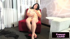 Plump femboy with lovable naturals in solo - duration 06:05