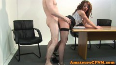 CFNM office hottie sucks dick and gets her sweet cunt fucked  - duration 06:05