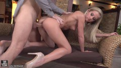 Sicilia sensual blonde diva takes a big dick inside her snatch  - duration 07:57