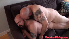 Curvy bare nailed bear gets anus creampied - duration 06:08