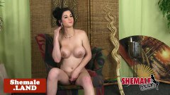 Cuban shemale chick provoking and taking clothes off - duration 06:05