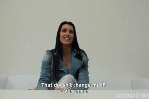 Brunette Hot Czech Gets Naked On Interview