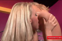 Two delicious blondes having sweet lesbian sex