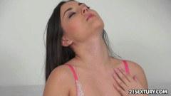 Stunning brunette has the best orgasm ever