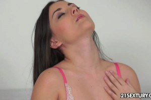 Stunning brunette has the best orgasm ever
