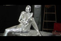 Spark Man finally makes passionate love with his creation Chrome Girl