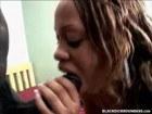 Ebony sweety boned by a huge black cock
