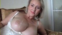 Fat tits riding hard cock