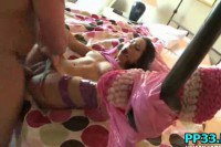 Tied up teen fucked