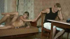 Russian slut fucking another