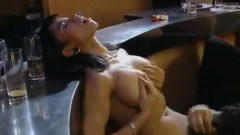 Black haired Julia Chanel gets seduced into fun