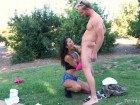 Young teen rammed in the outdoor