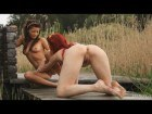 Sweet Ariel and Tea nude in nature