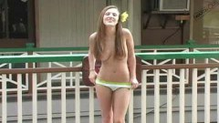 Petite Andrea Naked In Public