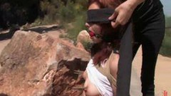 Redhead Justine publicly humiliated