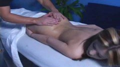 Sweet young Candice in massage action