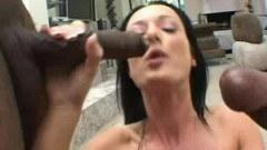 Melissa Lauren sucking two black guys