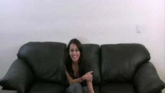 Attractive teen getting naked in audition