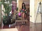 Sweet busty Trisha naked at the lobby
