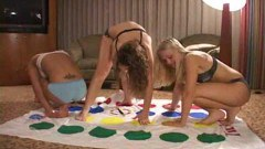 Amateur teen girls get off playing twister