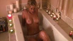 Gorgeous Ann Angel masturbating while bathing