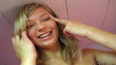 Funny schoolgirl Kasia exposing