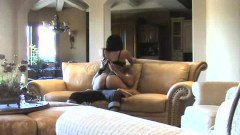 Missy Rose cheating in living room