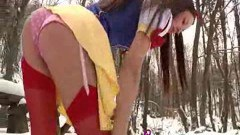 Redhead Snow White geting naked