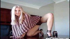 Sweet blonde Tiffany posing